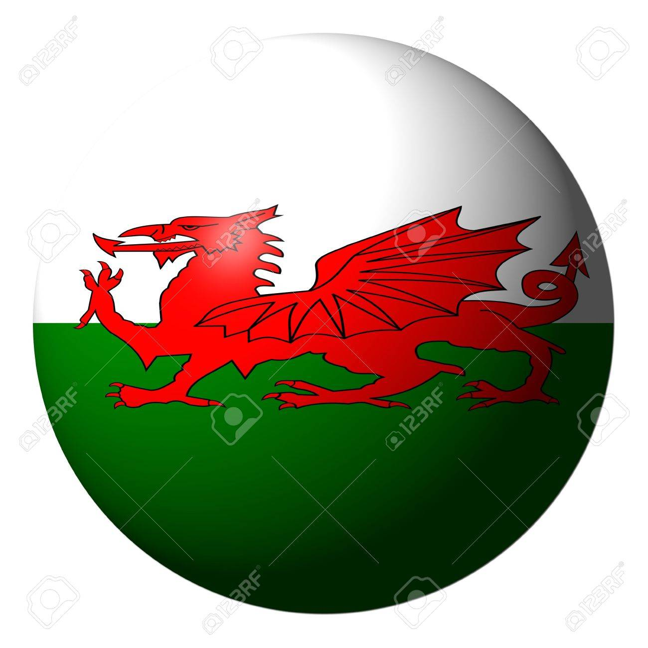 Welsh Flag Sphere Isolated On White Illustration Stock Photo ...