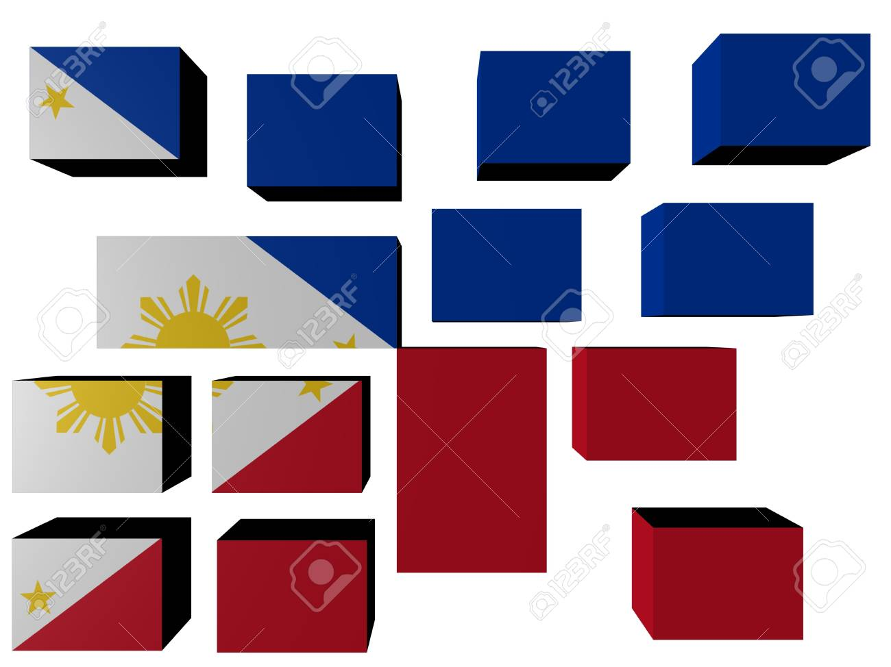 Philipines Flag on cubes against white illustration Stock Illustration - 7168922