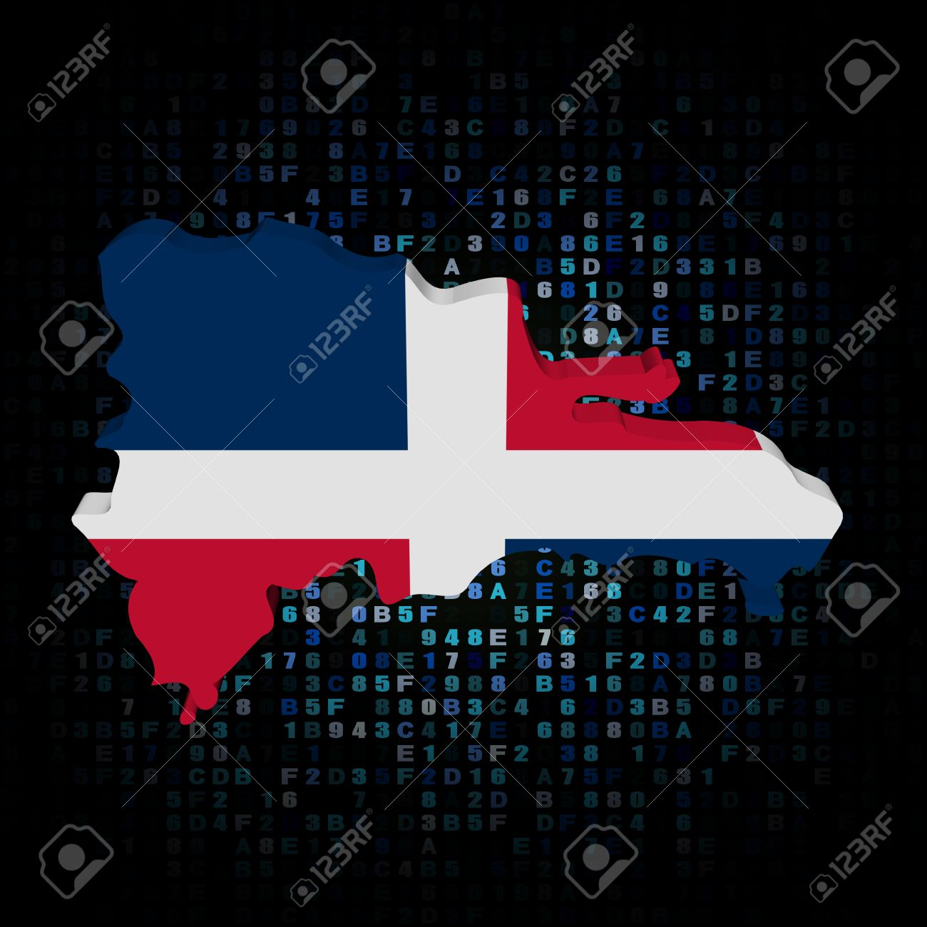 Dominican republic map flag on hex code illustration stock photo dominican republic map flag on hex code illustration stock illustration 66568196 gumiabroncs Image collections