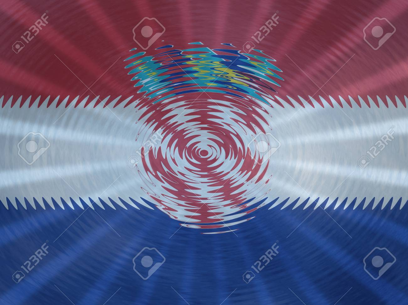 croatia flag background with ripples and rays illustration stock