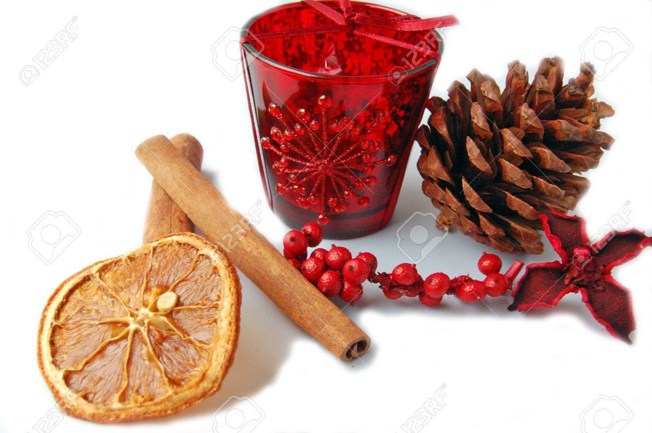 christmas items food and decorations Stock Photo - 8339629