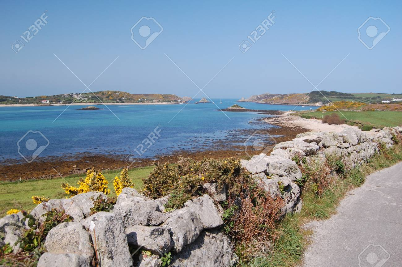view of bryher island from tresco, isles of scilly Stock Photo - 13703916