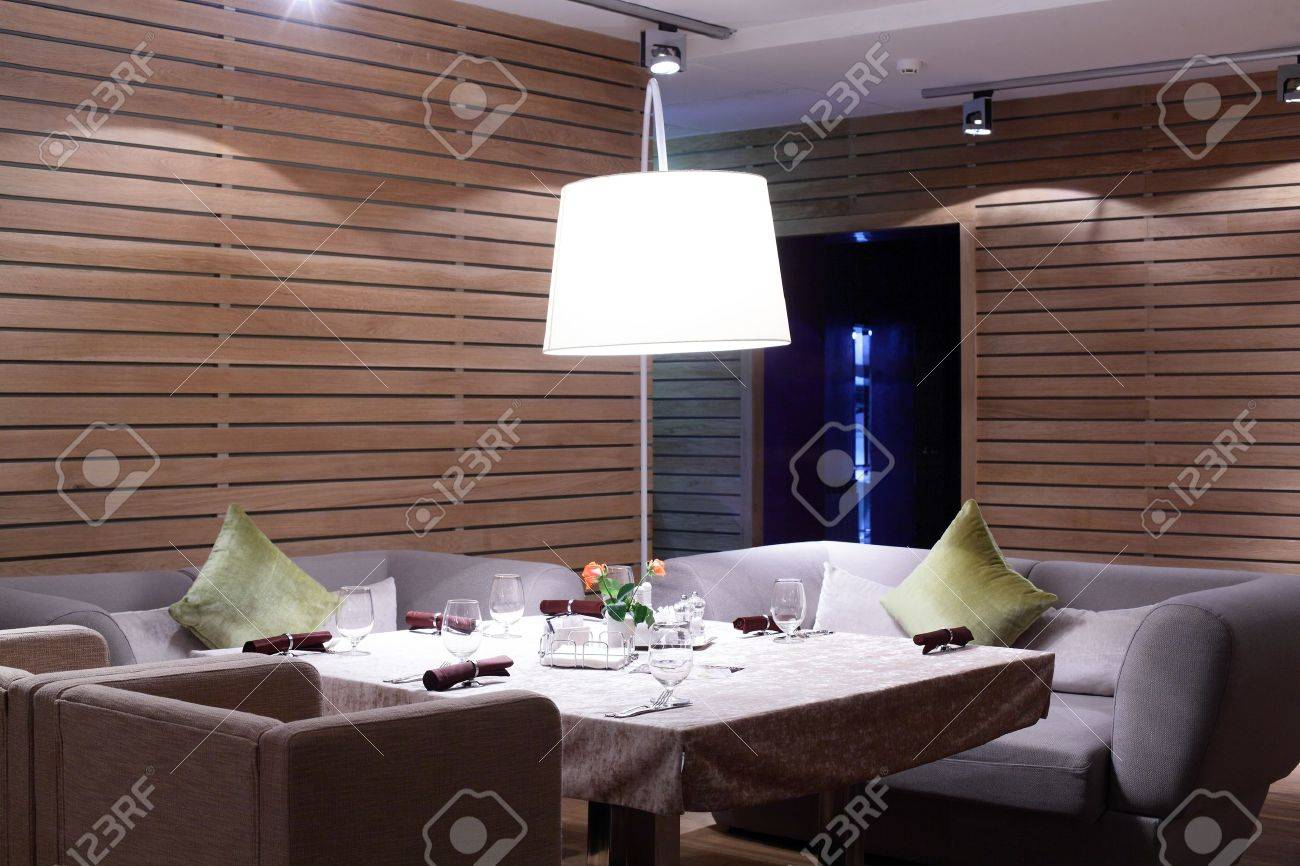new and clean luxury restaurant in european style Stock Photo - 22159463