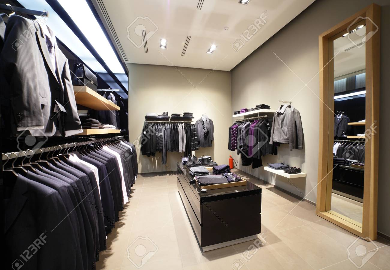 1f10a403d223 luxury and fashionable european different clothes shop Stock Photo -  22137613