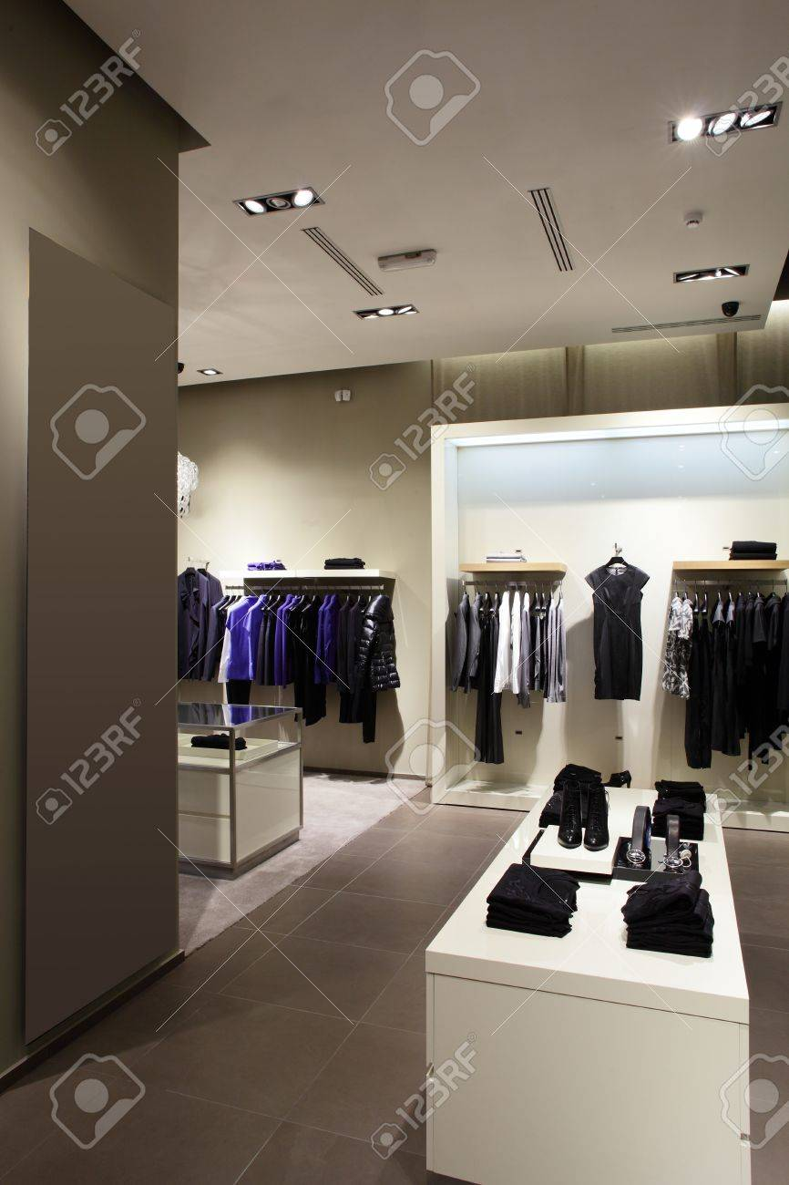 2959634b0036 luxury and fashionable european different clothes shop Stock Photo -  22159471