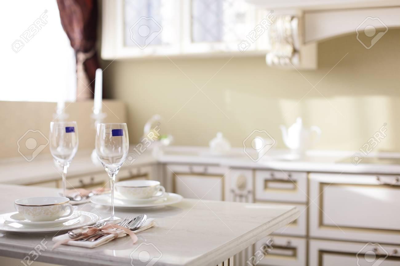 interior of brand new modern and stylish kitchen Stock Photo - 22134027