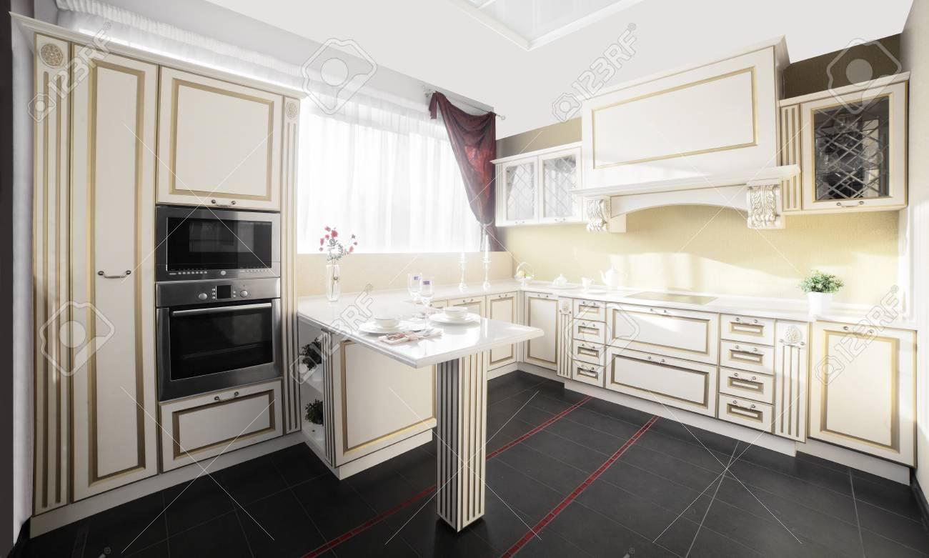interior of brand new modern and stylish kitchen Stock Photo - 22134028