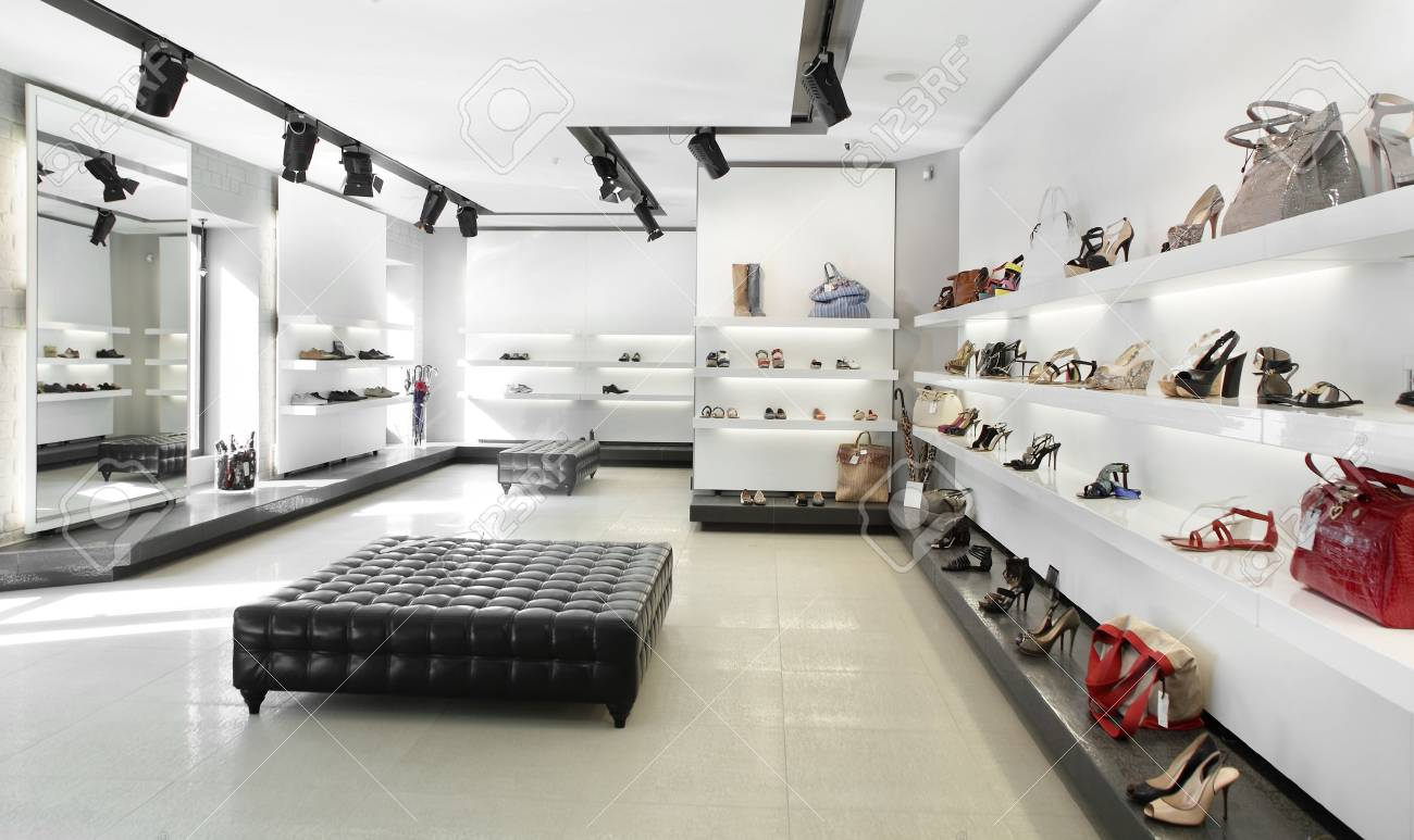 Bright Large Shoe Store With Luxury