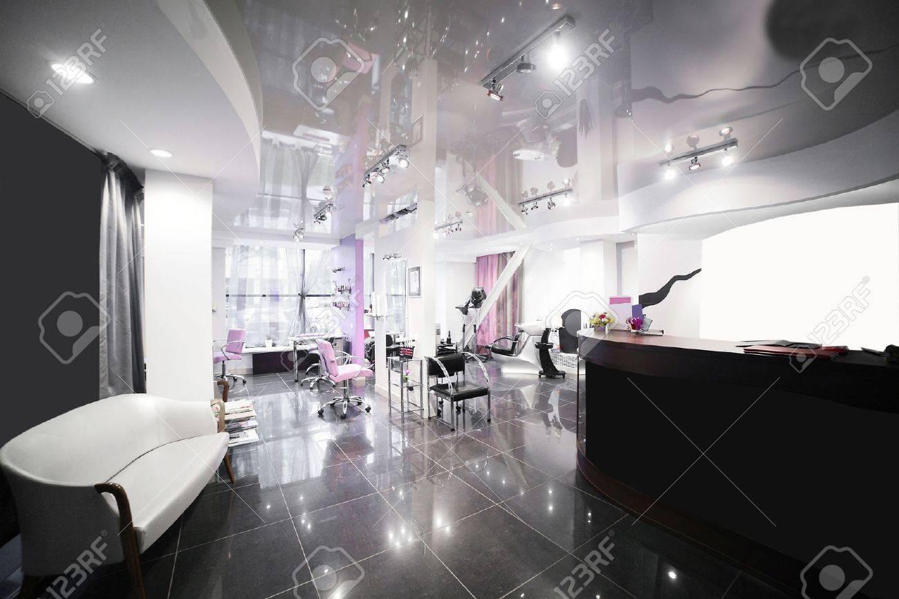 brand new interior of european beauty salon - 30063945