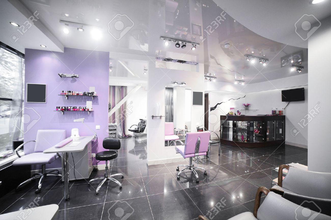 brand new interior of european beauty salon - 30063947
