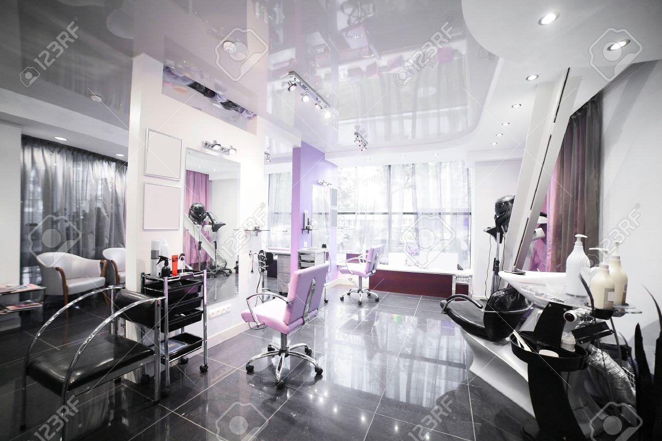 brand new interior of european beauty salon - 30063948