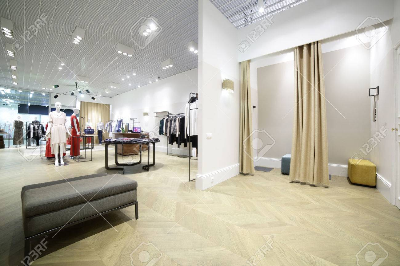 beautiful and clean interior of dressing room at the store - 31384080