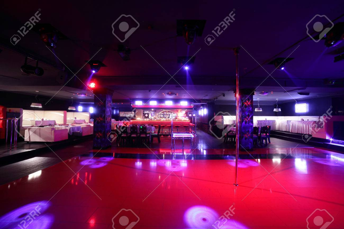 colorful interior of bright and beautiful night club - 32329379