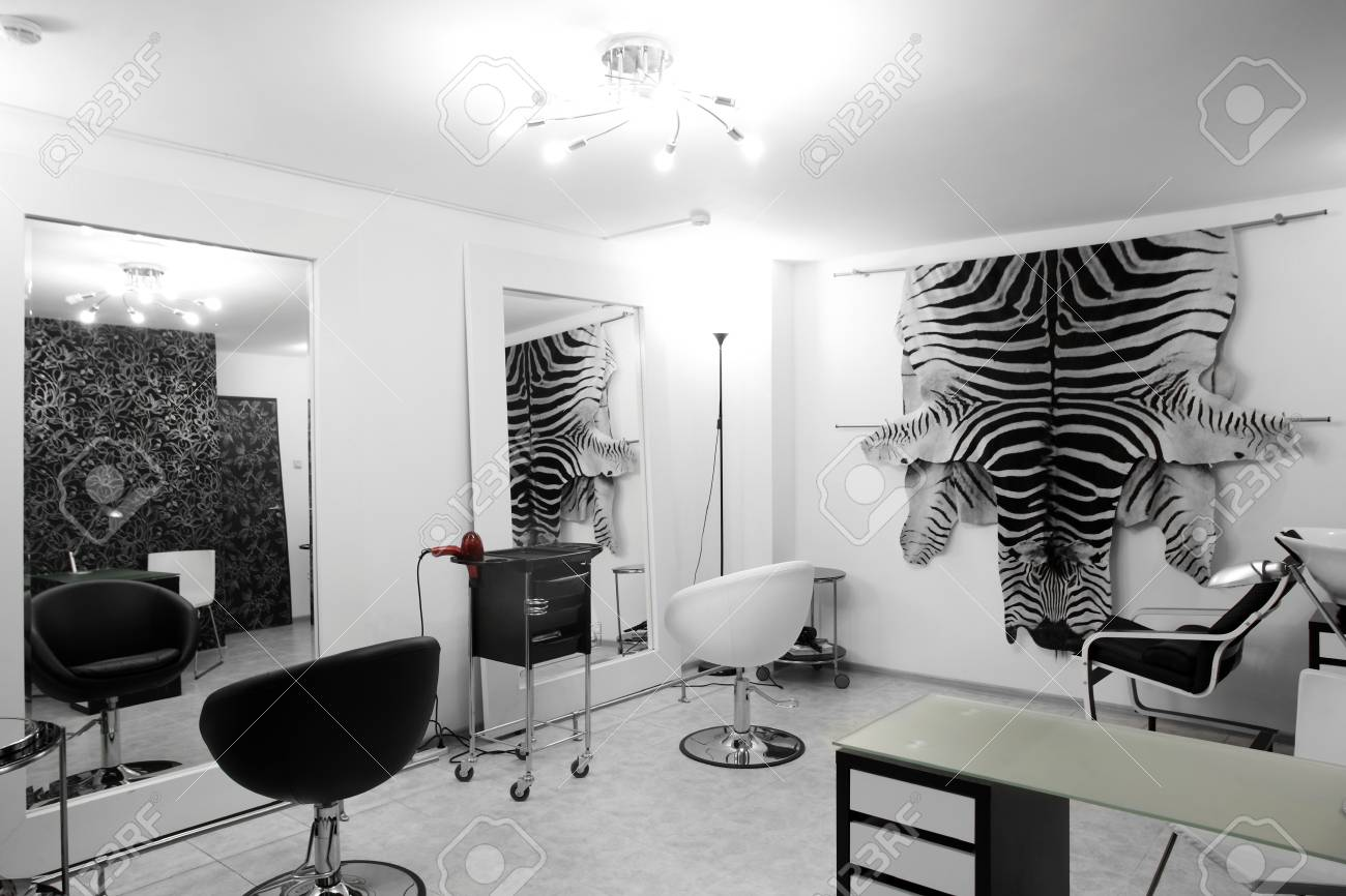 Brand New Interior Of European Beauty Salon Stock Photo, Picture And ...