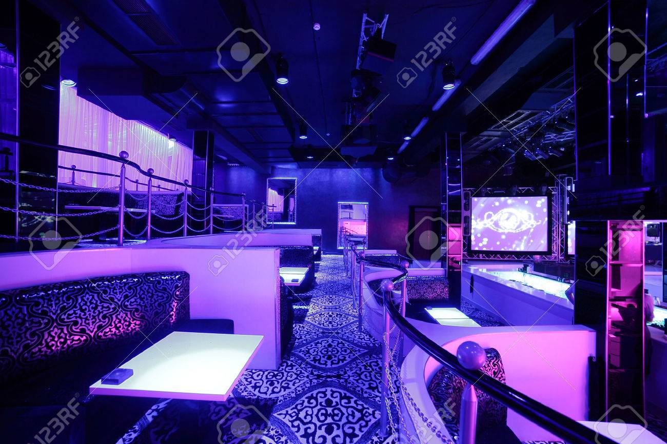 colorful interior of bright and beautiful night club - 32445653