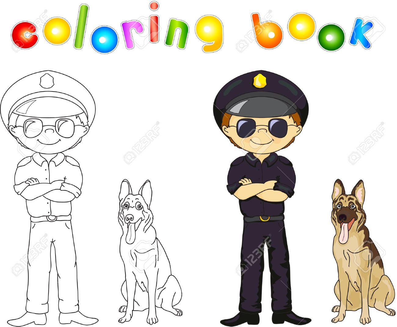 Lujo Oficial De Policía Para Colorear Modelo - Enmarcado Para ...