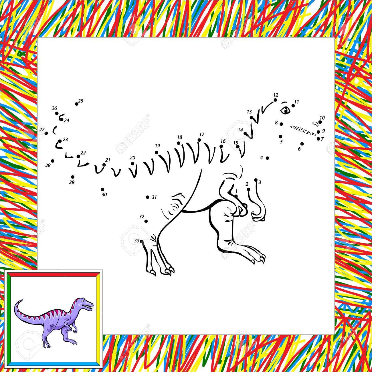 Lustige Karikatur Tyrannosaurus. Malbuch Für Kinder Malen Nach ...