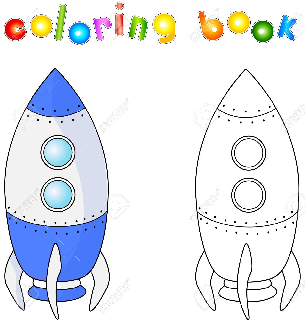 spacecraft or aerospace vehicle coloring book for children about