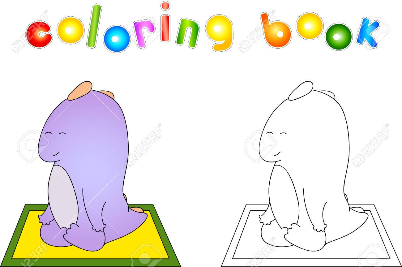 childrens yoga coloring sheets : Childrens Yoga Coloring Crummy Bellied Dragon Doing Yoga Exercises Coloring Book About Healthy Lifestyle For