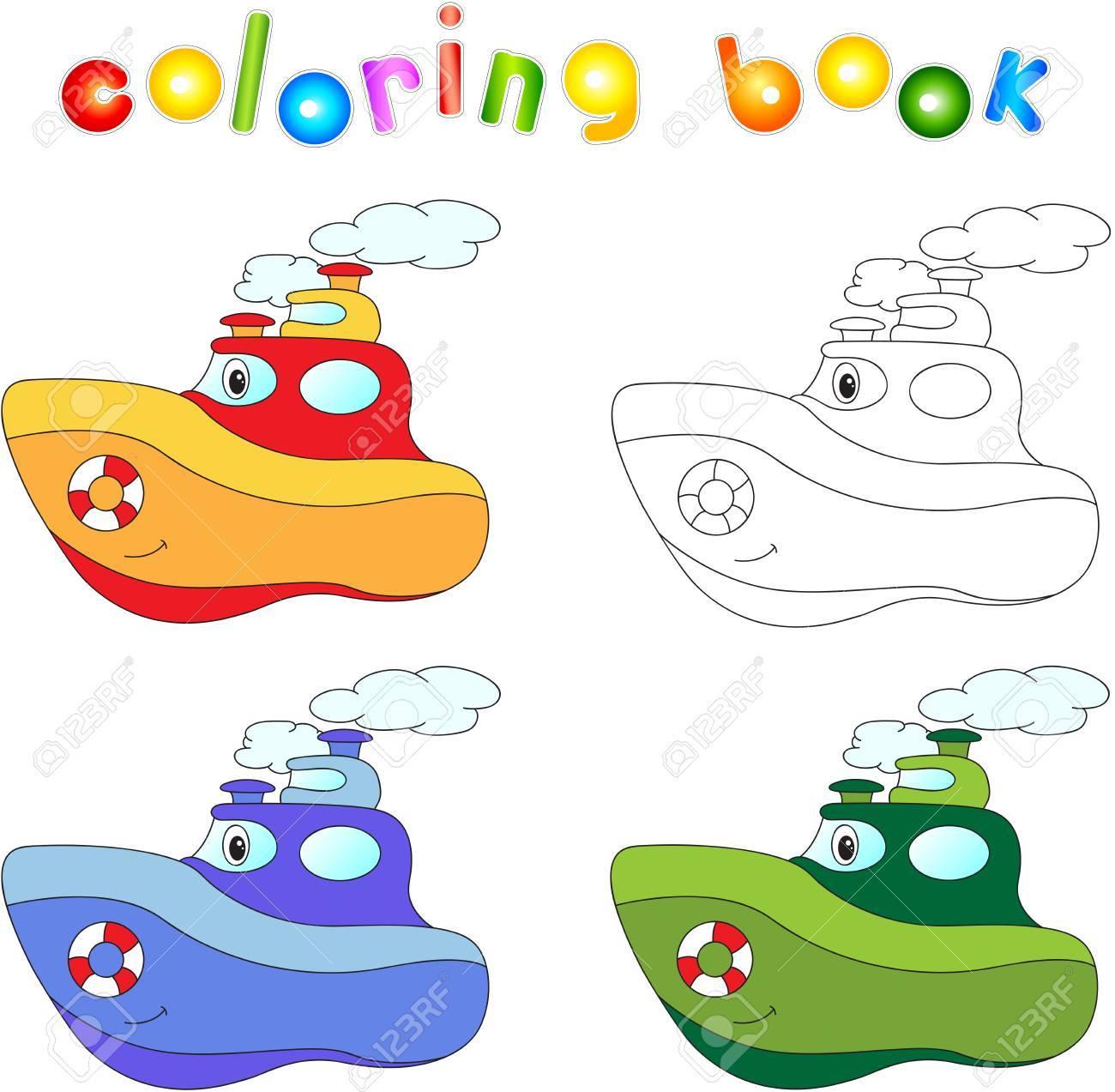 Paquebot Drole De Bande Dessinee Livre Coloriage Pour Les Enfants
