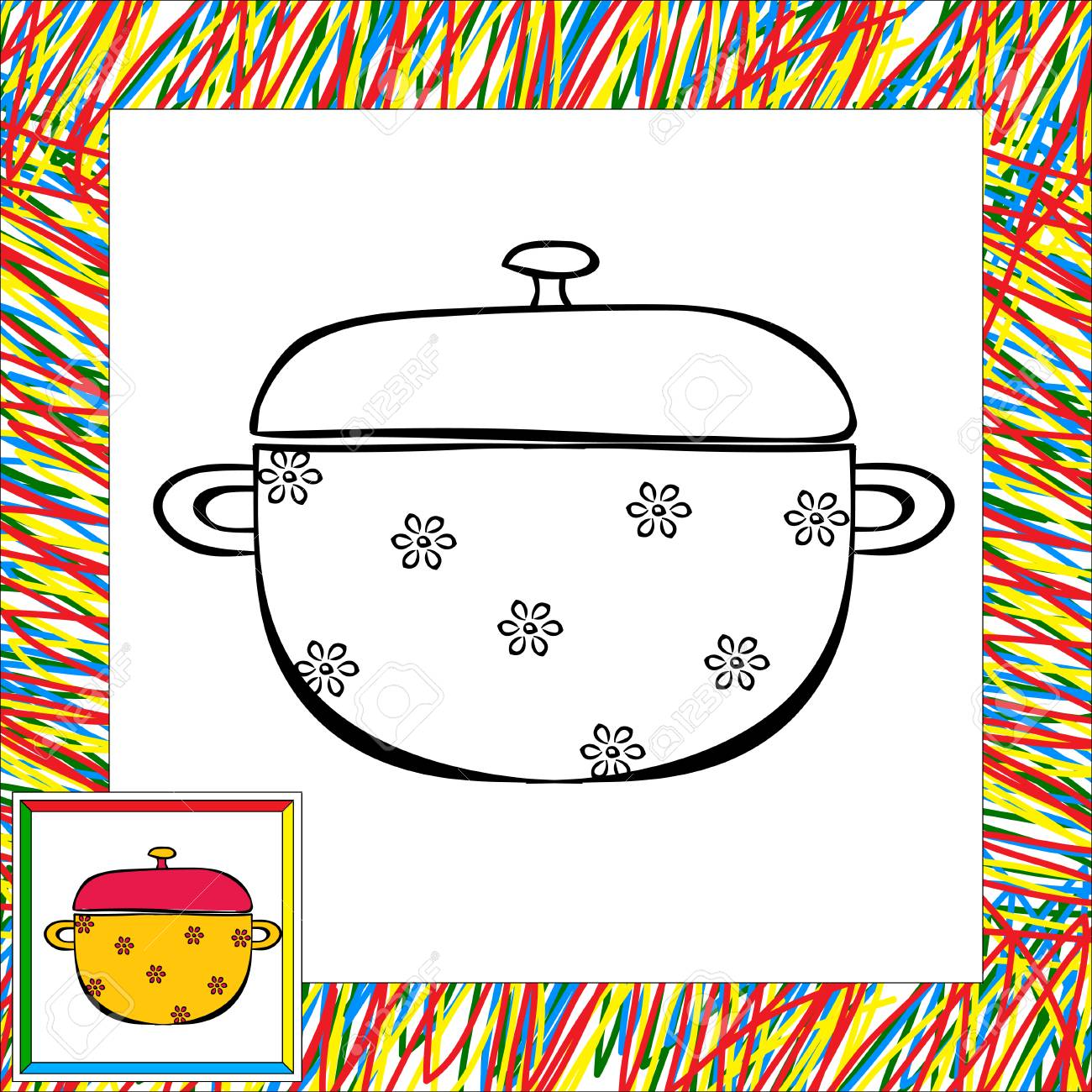 Pan Para Colorear Ilustración Vectorial Para Los Niños