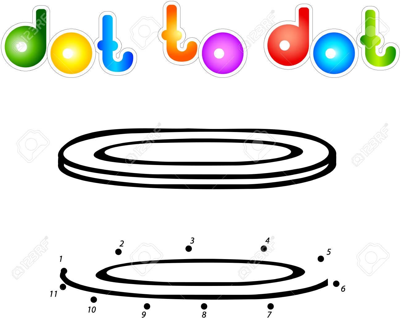 Segunda Placa De Punto A Punto De Libro Para Colorear Ilustración Vectorial Para Los Niños