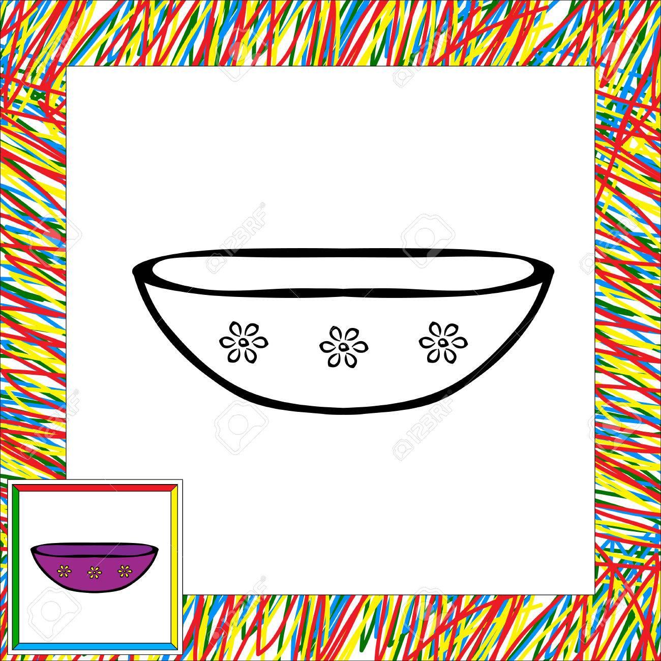 Libro Para Colorear De Placas Ilustración De Vector Para Niños