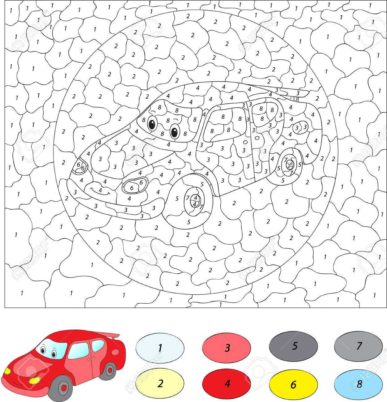 Color car number -