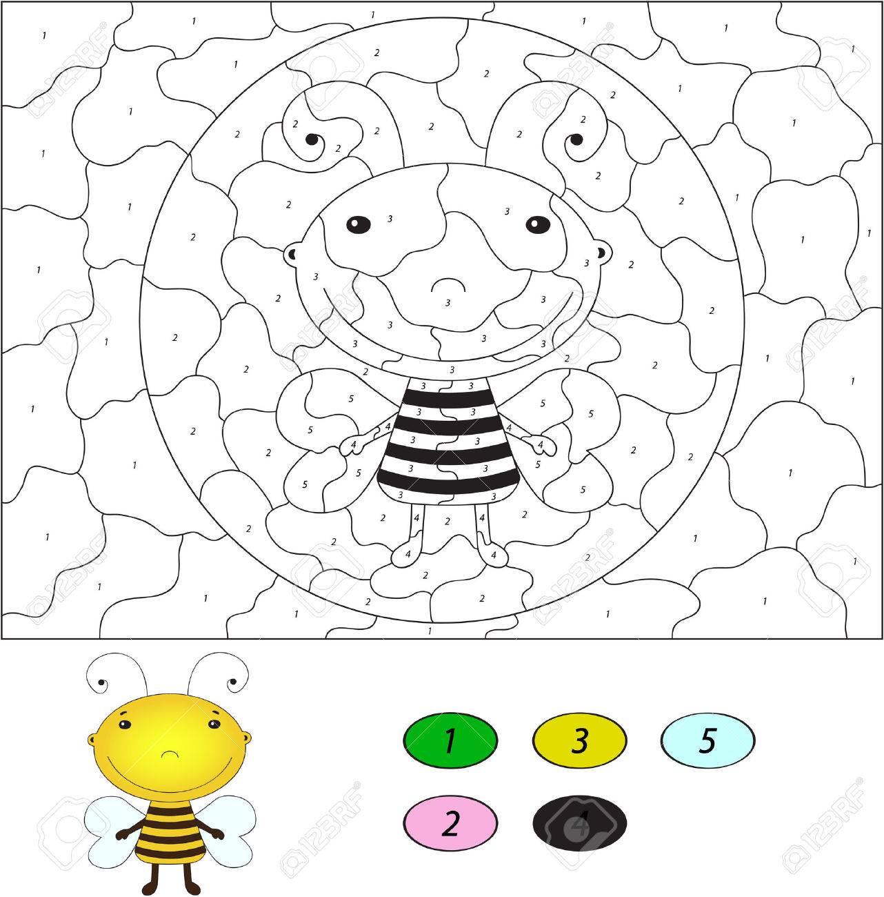 Asombroso Colorear Páginas De Colores Por Número Colección - Dibujos ...
