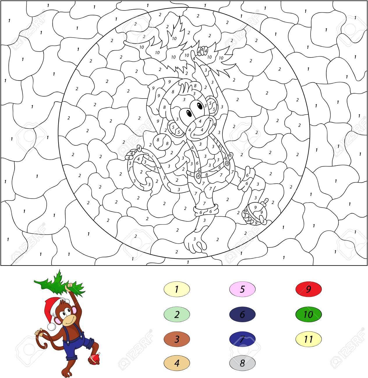 Color Por El Numero De Juegos Educativos Para Los Ninos Divertidos