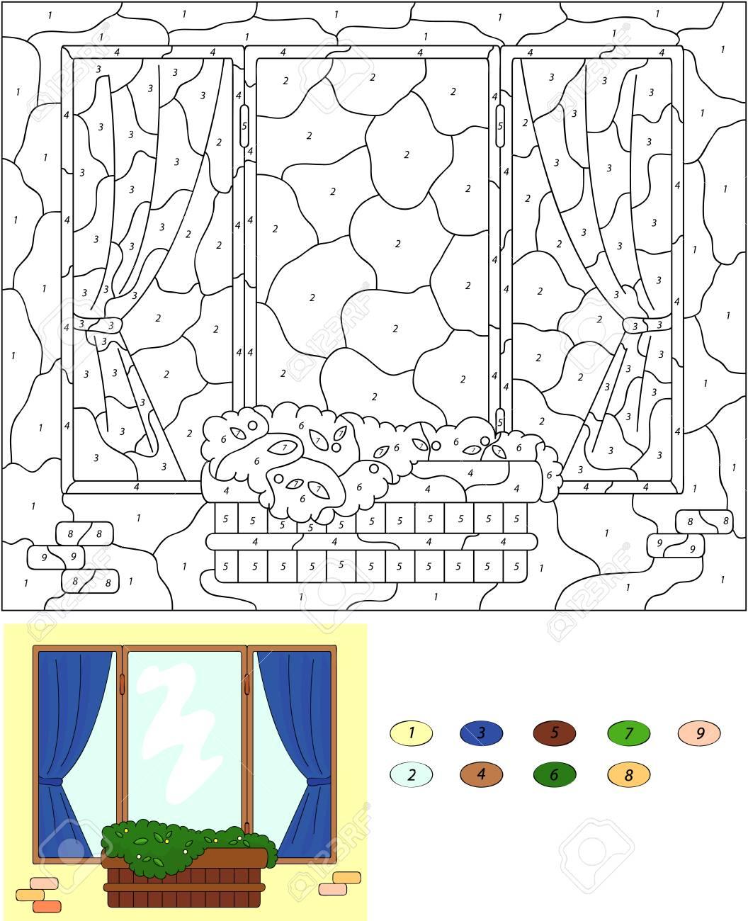 Exelent Farbe Nach Anzahl Arbeitsblatt Für Kindergärten ...