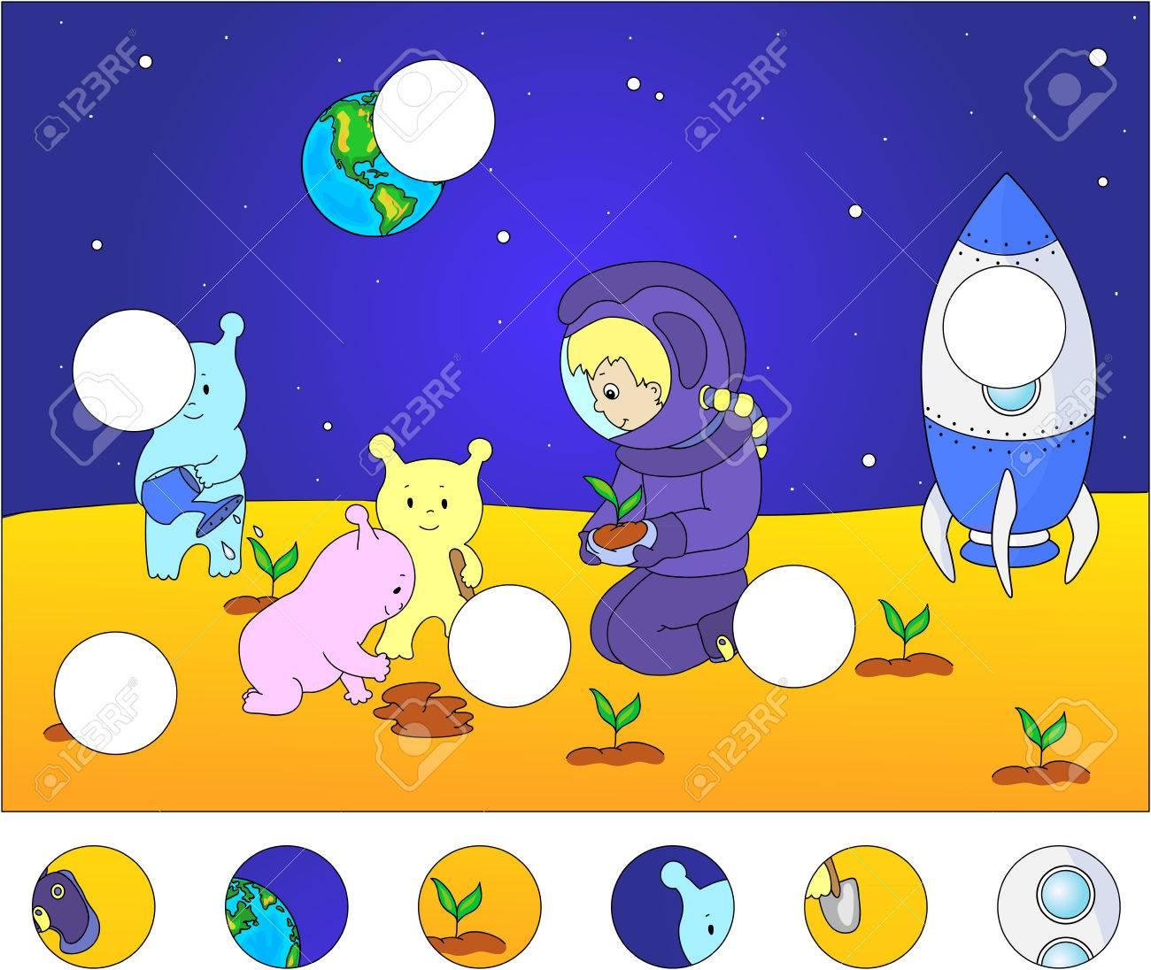 Aliens Und Astronauten Die Bewässerung Der Pflanzen Auf Dem Planeten ...