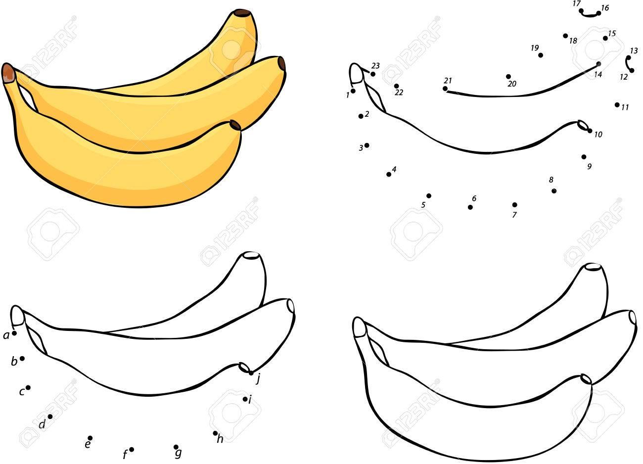 Tres Dibujos Animados Plátanos Amarillos. Ilustración Del Vector ...