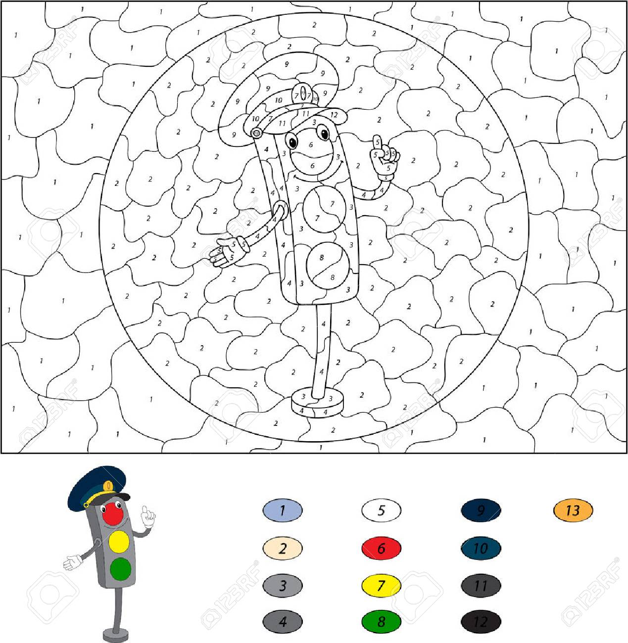 traffic light coloring page corpedo com