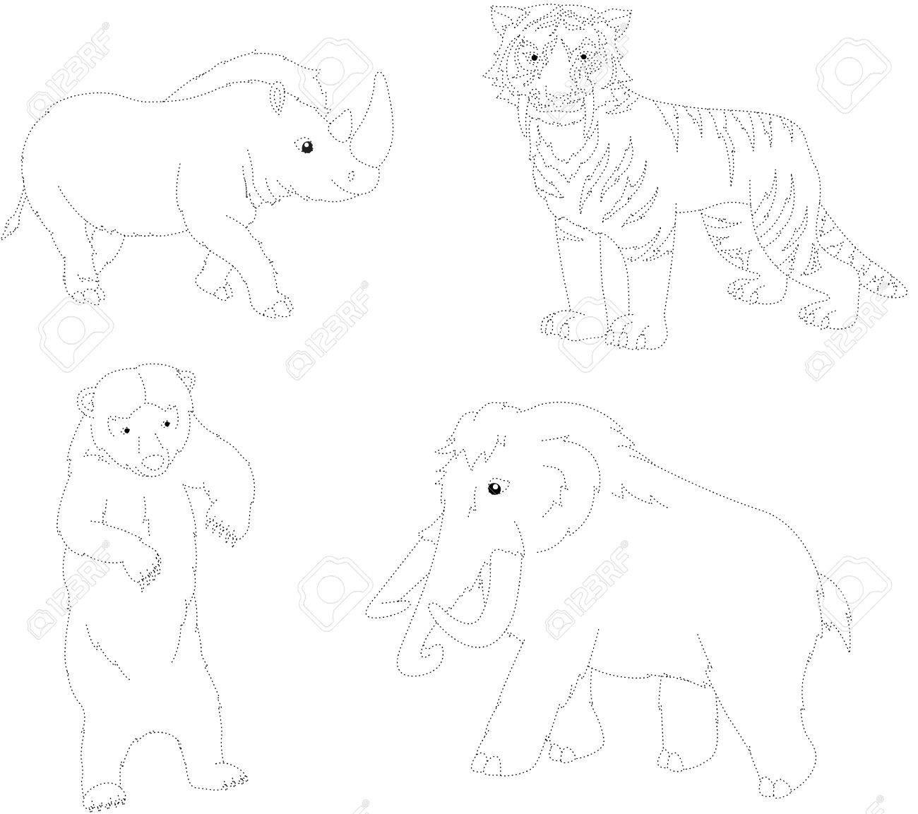 Conjunto De Mamut, Oso Prehistórico, El Tigre Dientes De Sable Y El ...