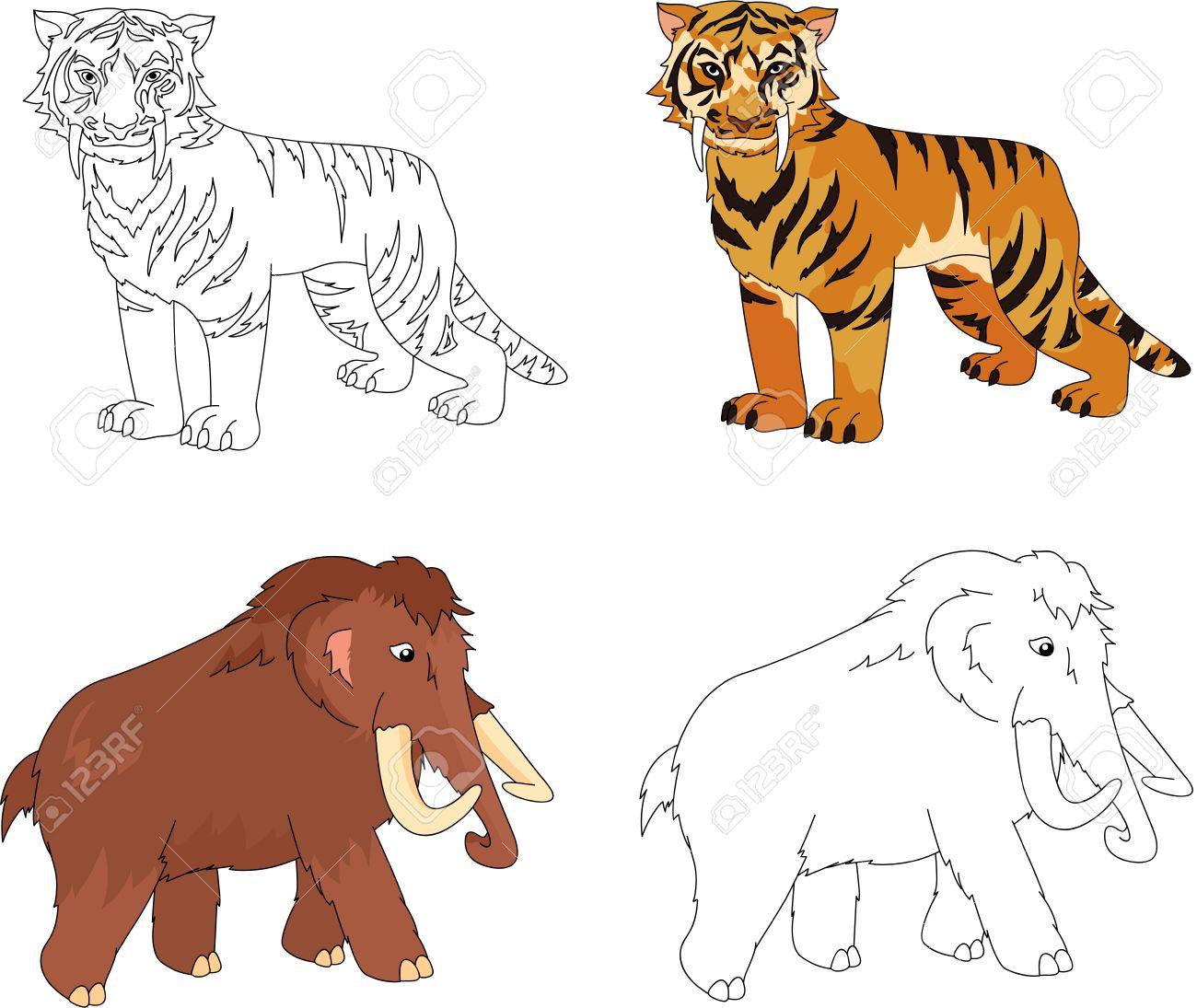 Fantástico Sables De Búfalo Para Colorear Ilustración - Enmarcado ...