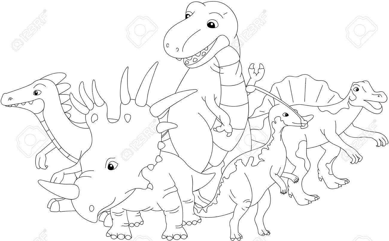 Styracosaurus Spinosaurus Tyrannosaure Stegosaure Et