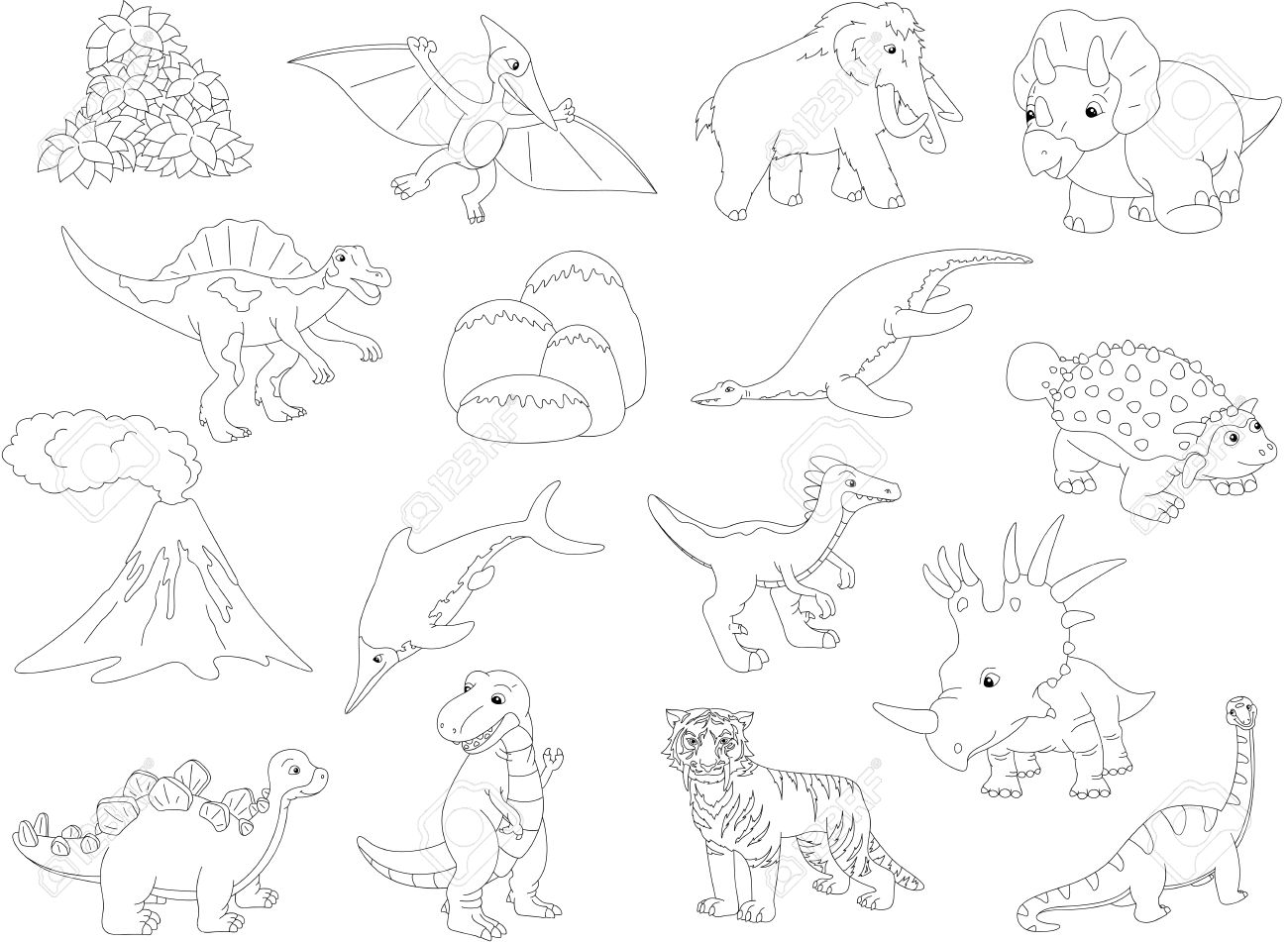Palaeosaurus, Styracosaurus, Spinosaurus, Ictiosaurio, Diplodocus ...
