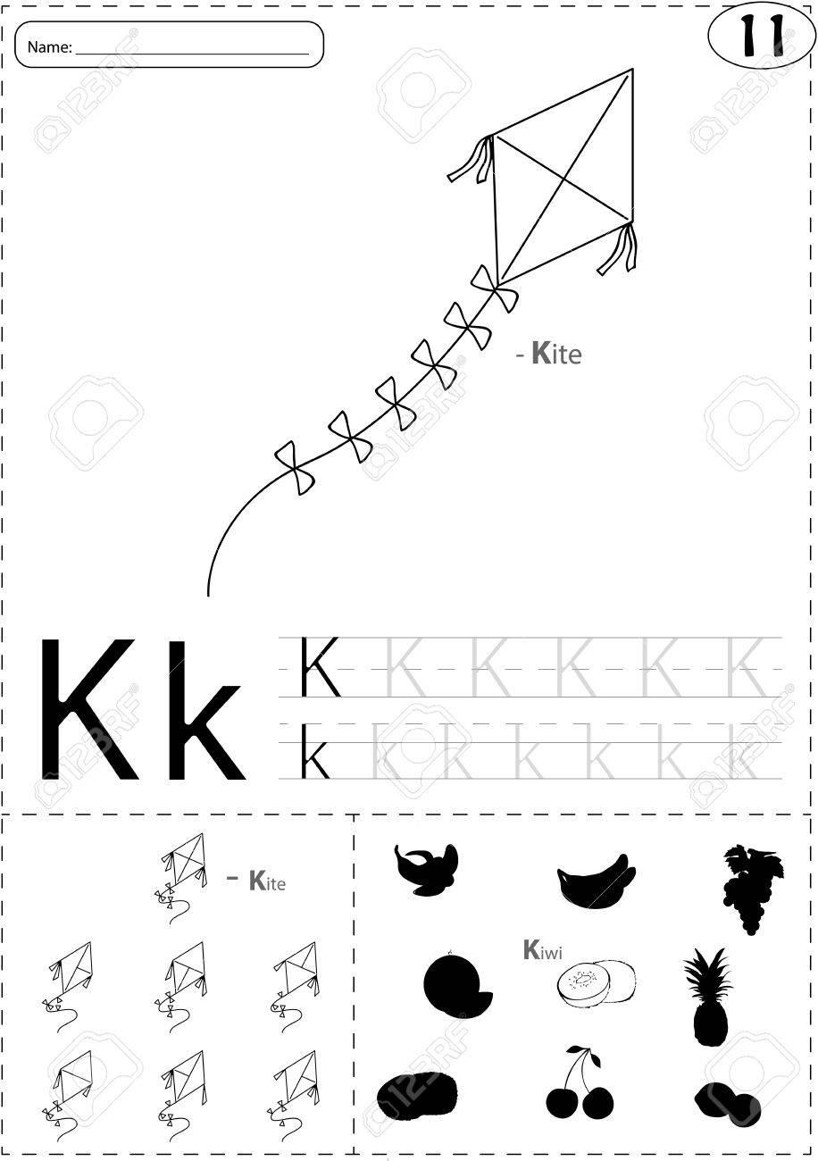 Magnificent Alphabet Schreiben Arbeitsblatt Für Kindergärten ...