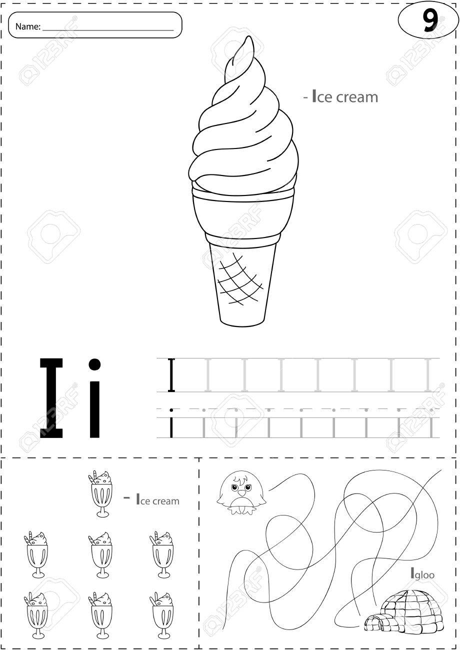 Cartoon ice cream and igloo alphabet tracing worksheet writing cartoon ice cream and igloo alphabet tracing worksheet writing a z coloring book and pooptronica