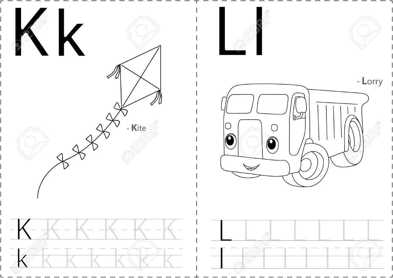 Schön Alphabet Kindergarten Tracing Arbeitsblatt Zeitgenössisch ...