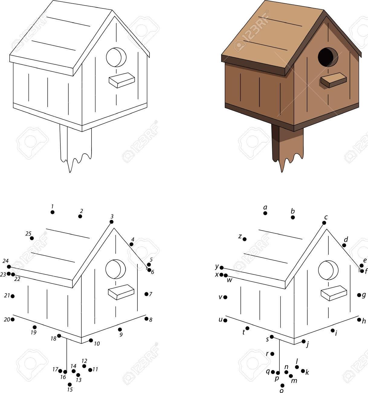 cartoon nesting box coloring book and dot to dot educational