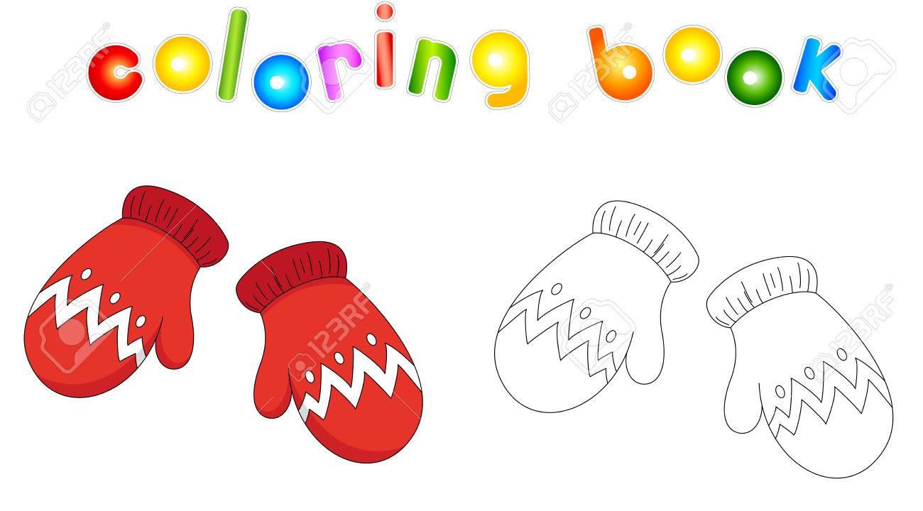 Mitones De Navidad Libro De Colorear Para Niños