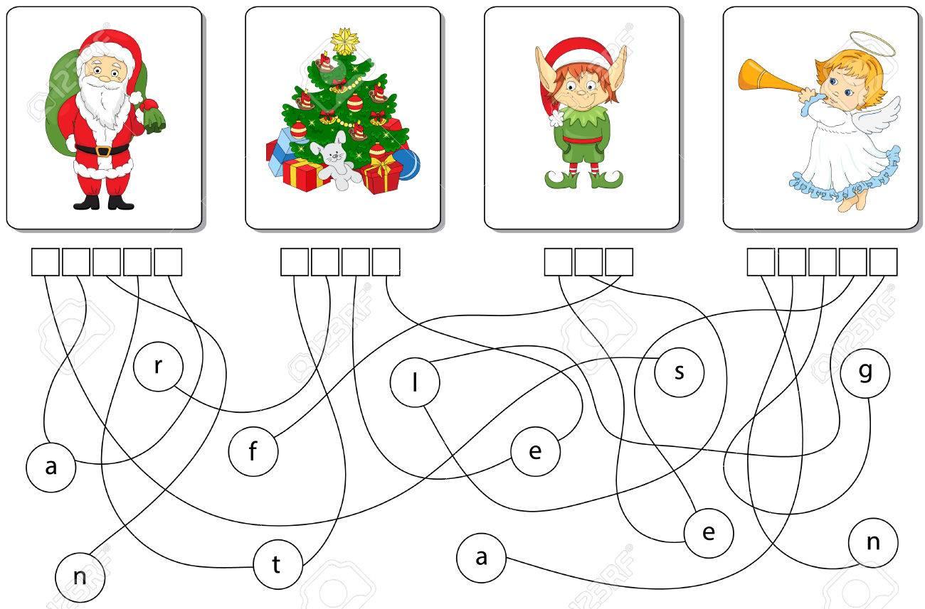 Juego Educativo De Rompecabezas De Navidad Para Ninos Encuentra Las