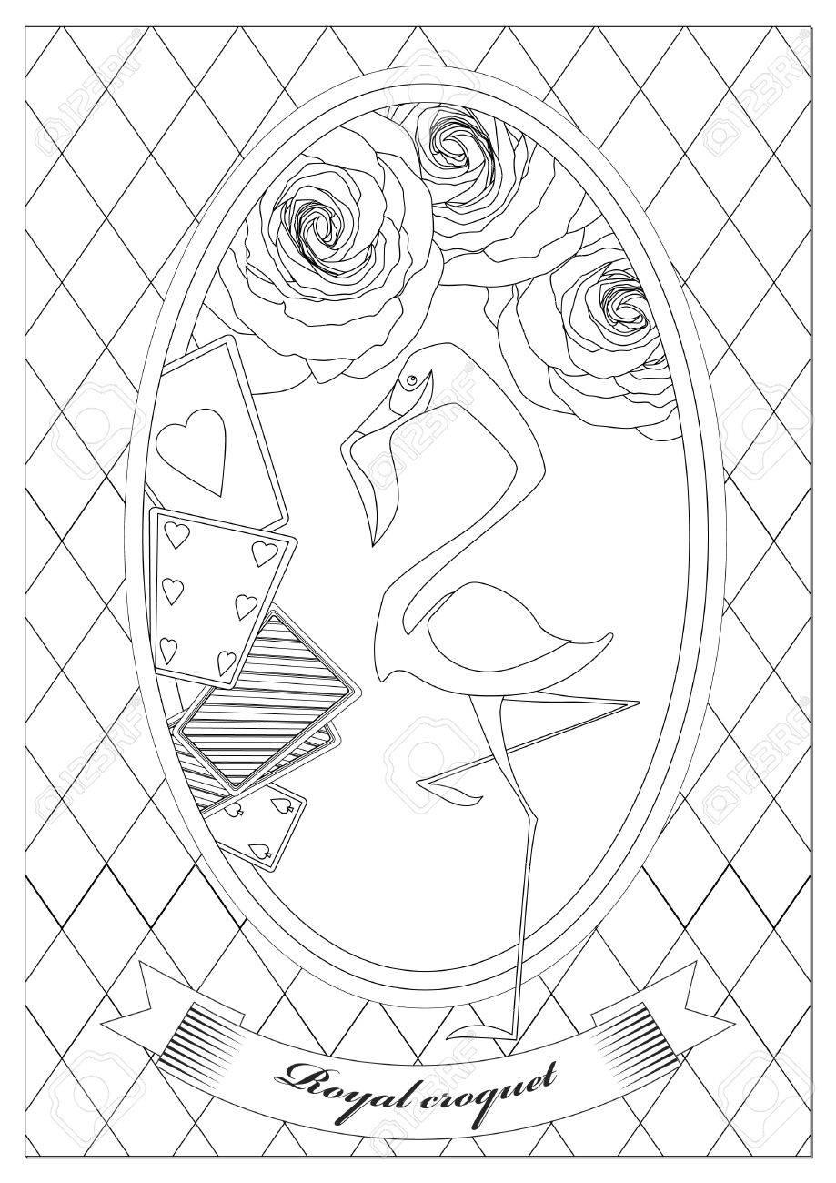 Coloring Page. Alice In Wonderland. Royal Croquet. Hatter Dormouse ...