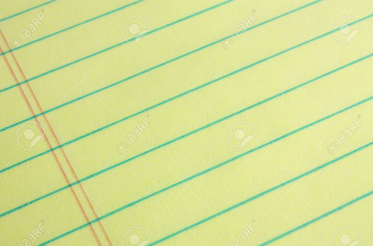 legal pad of yellow paper background add your business or legal