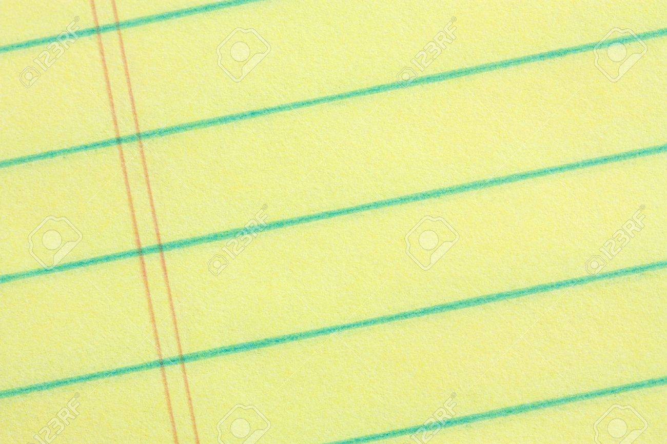 Legal pad of yellow paper background - add your business message Stock Photo - 4105054