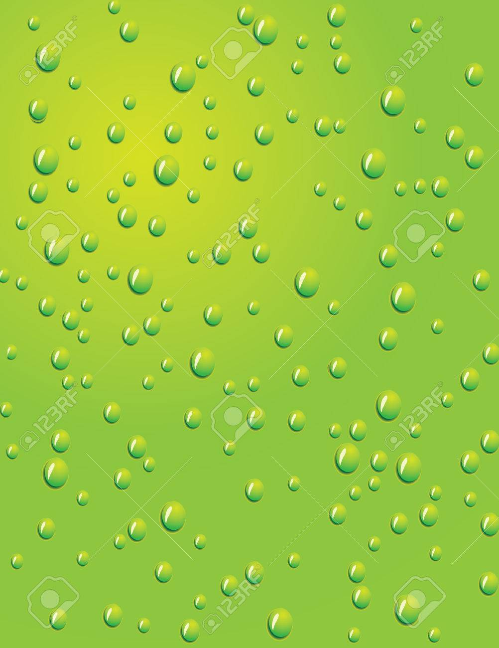 Seamless green background with water drops. Vector illustration Stock Vector - 5399587