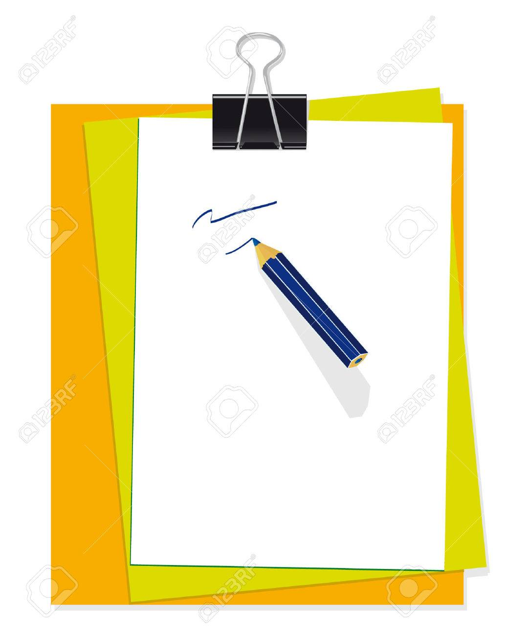 A set of stationery for the office. illustration Stock Vector - 6315392