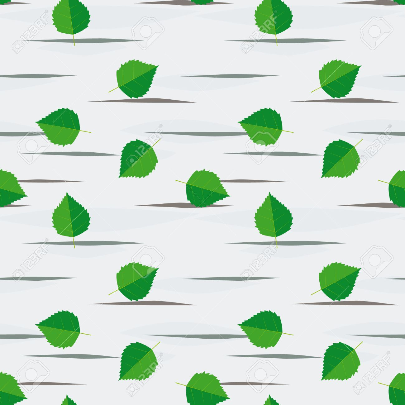 Seamless background from birch leaves Stock Vector - 7327590